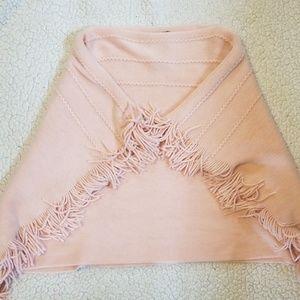 Girls Pink Poncho